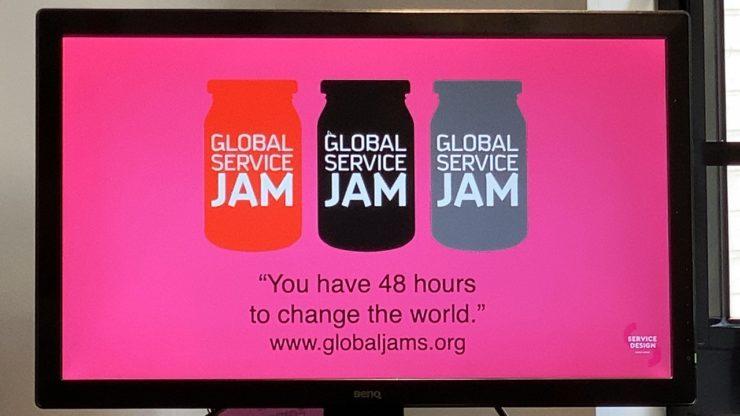 Global Service Jamの概要が書かれたスライドの写真