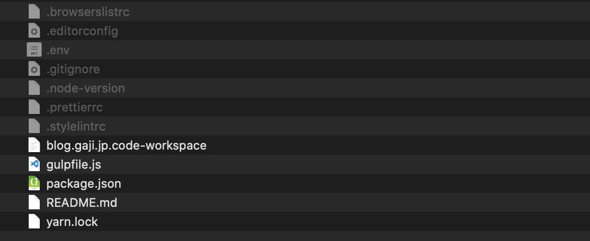 アイキャッチ画像:Gaji-Laboでよく使う設定ファイルたち