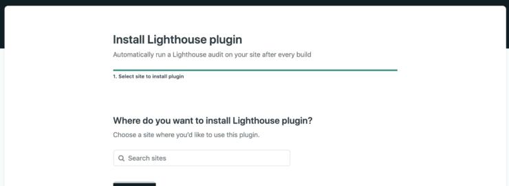 プラグインの導入先サイトの選択画面ののキャプチャ画像