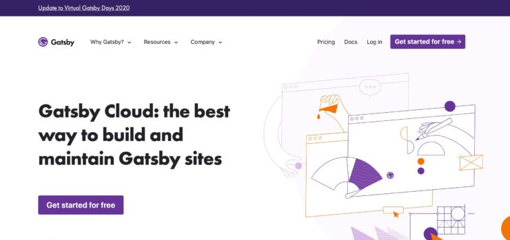 Gatsby Cloud のサイトのキャプチャ画像