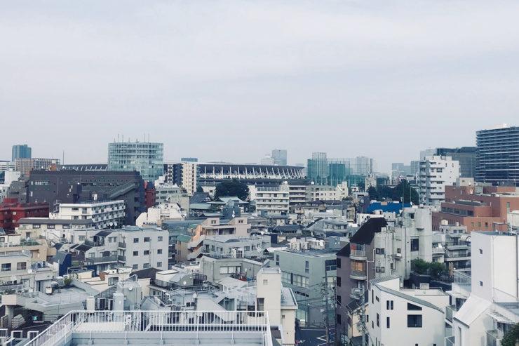 弊社がある建物の屋上からの景色