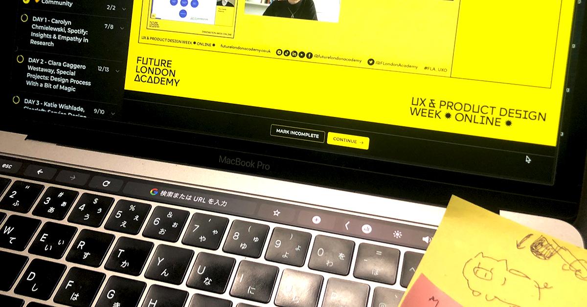 アイキャッチ画像:[続・海外のオンラインセミナーに参加してみた] UX & PRODUCT DESIGN WEEK ✹ ONLINE ✹