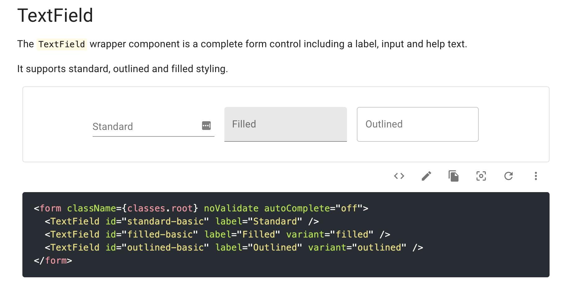 アイキャッチ画像:Material-UIでテキストフィールドをカスタマイズして実装する方法