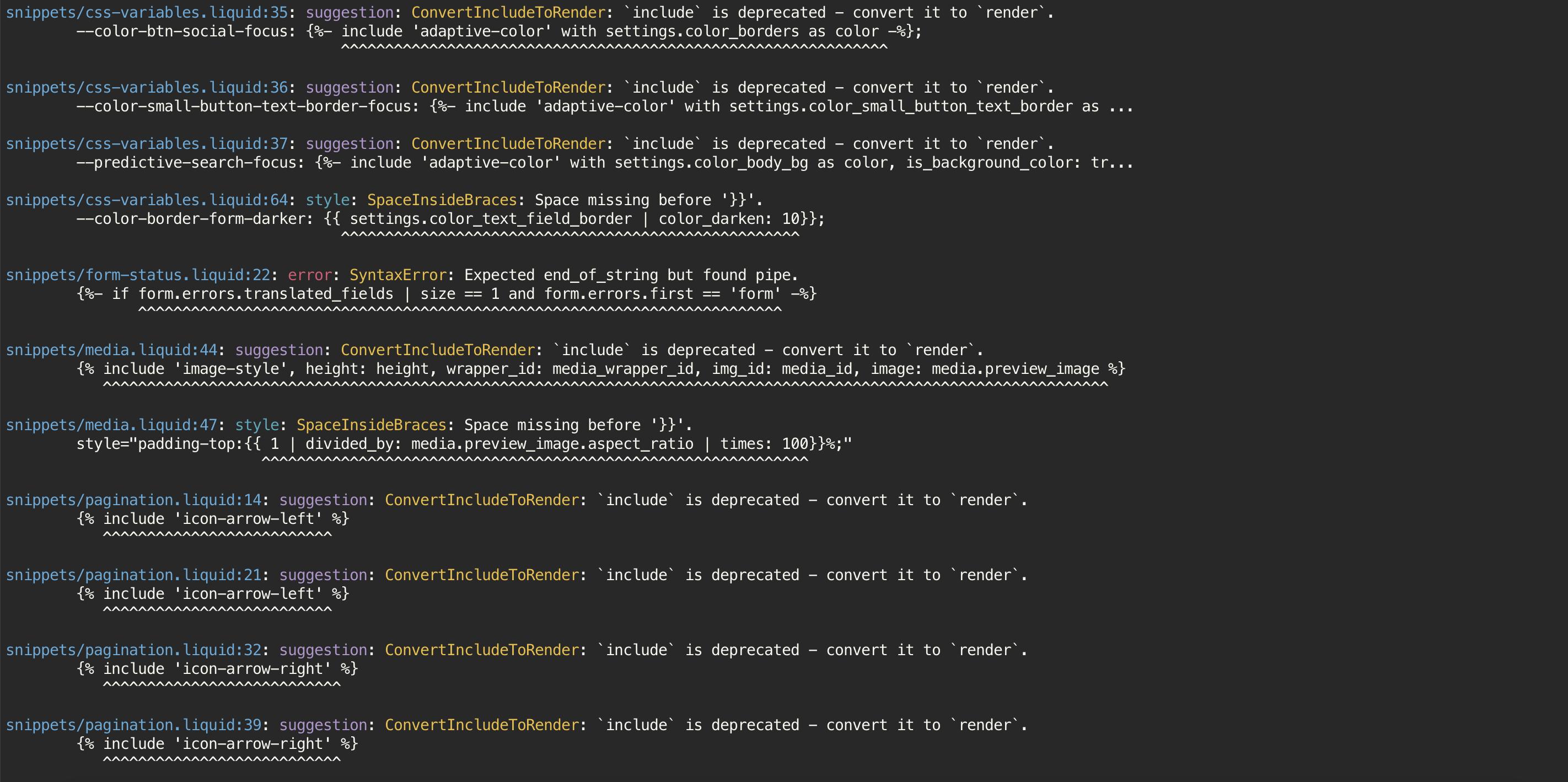 アイキャッチ画像:Shopify 公式の Theme linter 「Theme Check」を使用してテーマの構文エラーをチェックする