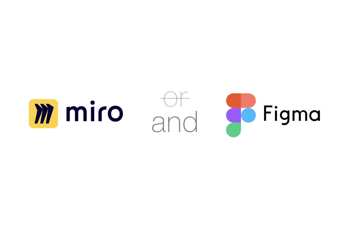 アイキャッチ画像:Gaji-Labo の UIデザインでの Miro と Figma